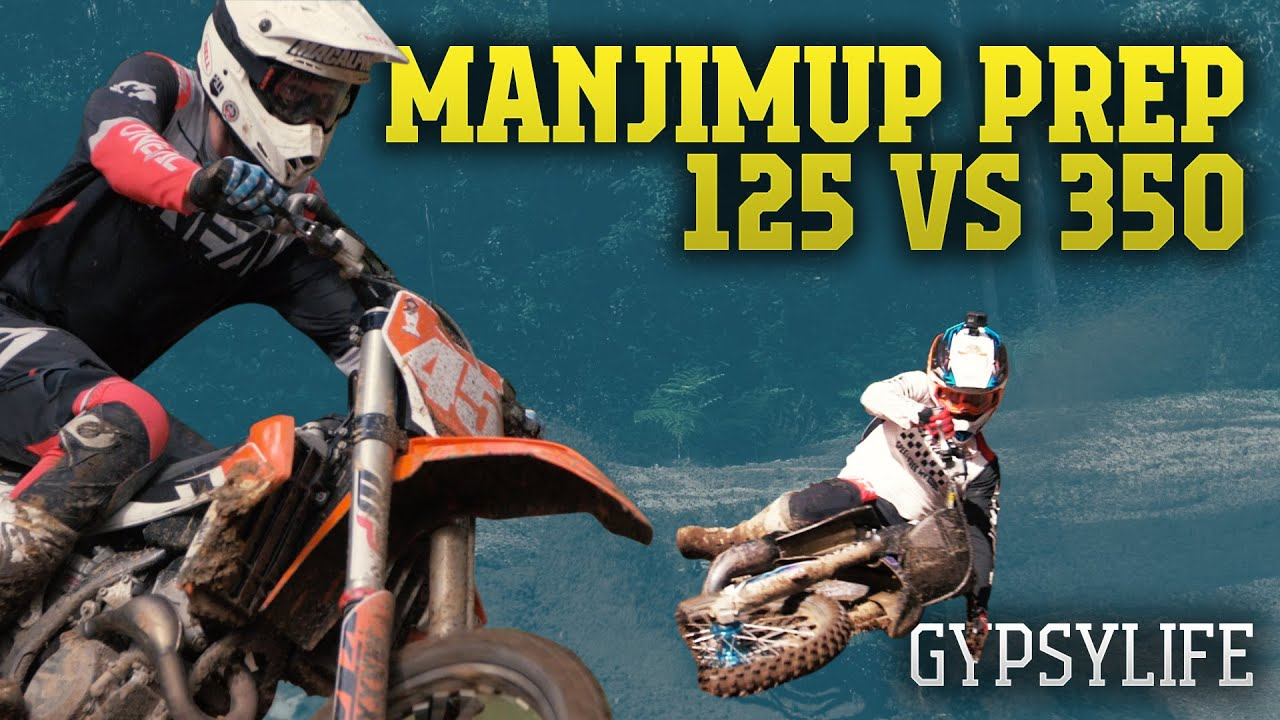 YZ125 vs. KTM350 - Sleeter & Jase training in the DEEP SAND for Manjimup - GYPSY TALES