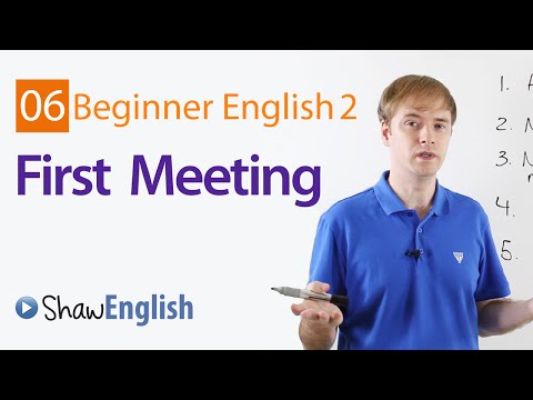 First Meeting With A Stranger in English