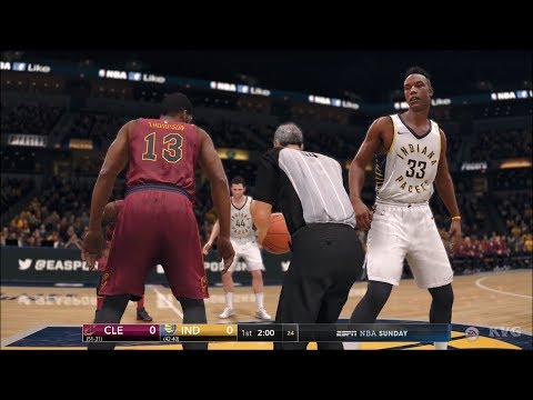 NBA Live 18 - Indiana Pacers vs Cleveland Cavaliers - Gameplay (HD) [1080p60FPS]