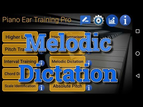 Melodic Dictation - Piano Ear Training App