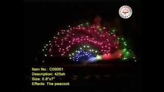Video 425 shots peacock display cakes fireworks for celebration -- C09001 download MP3, 3GP, MP4, WEBM, AVI, FLV November 2017