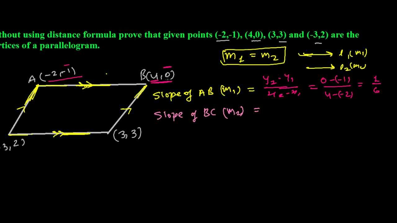 proving parallelogram without using distance formula youtube