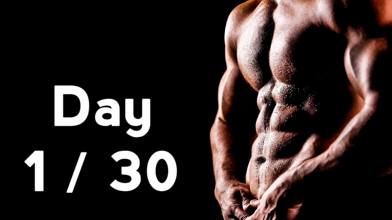 30 Days Six Pack Abs Workout Program Day 1