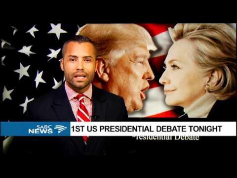 1st US presidential debate Monday night, Sherwin Bryce-Pease reports