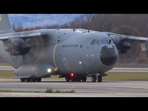 Turkish Air Force Airbus A400M Landing At Geneva/GVA/LSGG