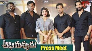 Abhimanyudu Movie Press Meet | Vishal, Samantha, Arjun | TeluguOne