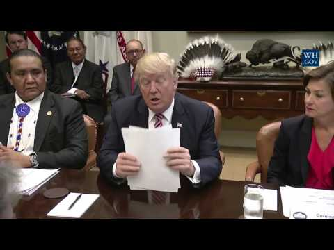 POTUS Donald J. Trump recognizes Indigenous Sovereignty