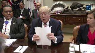 POTUS Donald J. Trump recognizes Indigenous Sovereignty