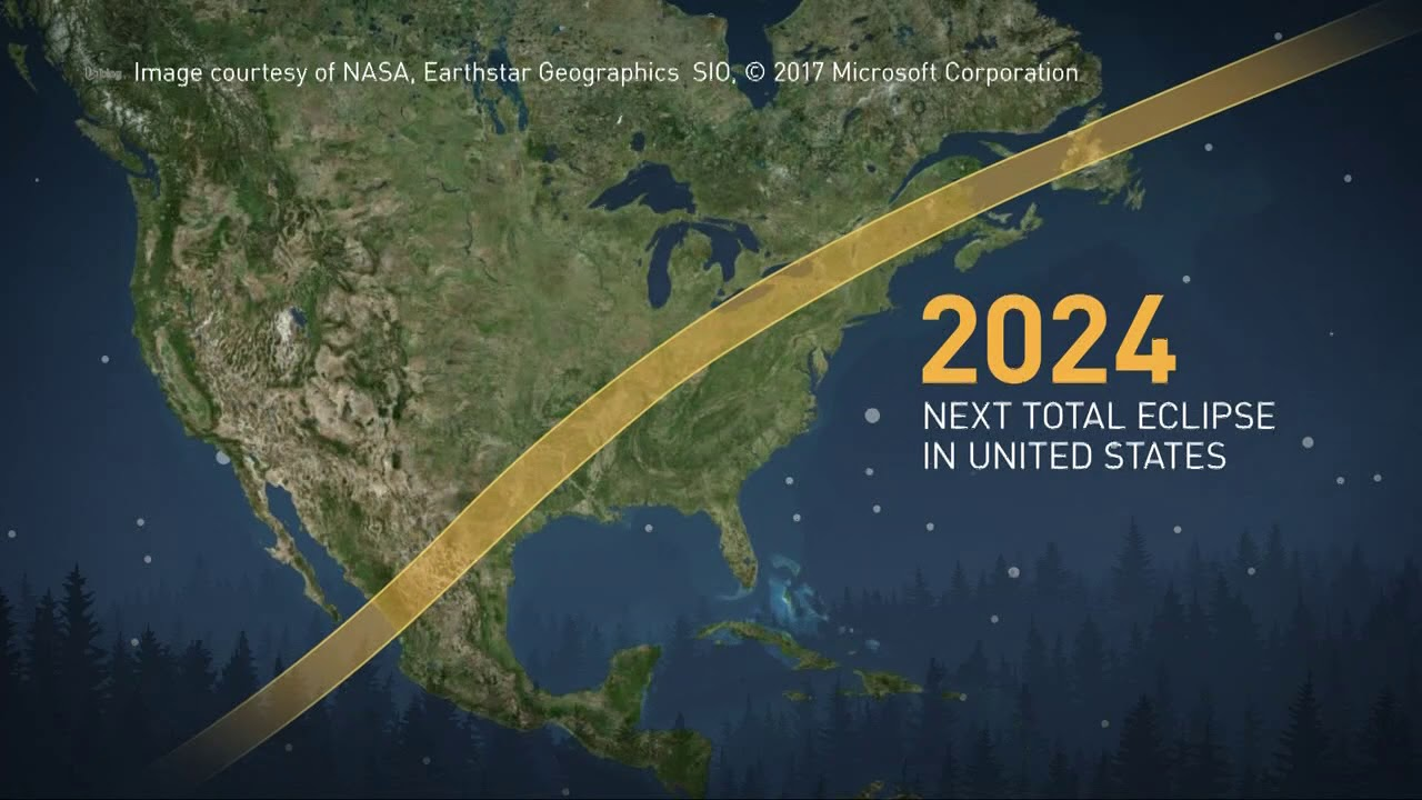 Path Of April 8 2024 Solar Eclipse Youtube