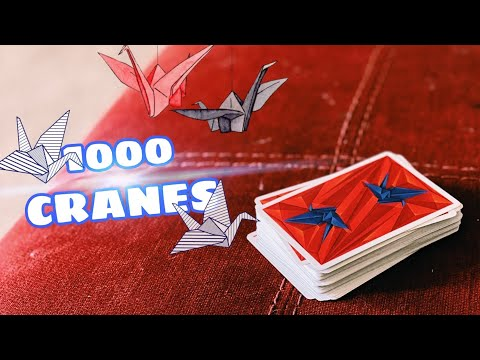 This deck is INSANE! 1000 Cranes Playing Cards by RiffleShuffle | Deck Reciew