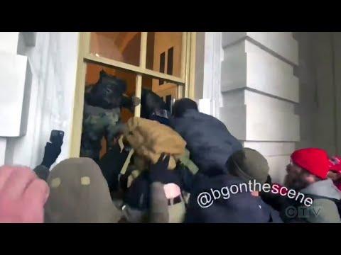 Trump supporters smash windows at U.S. Capitol building