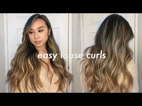 EASY LOOSE CURLS HAIR TUTORIAL   my everyday hairstyle & favorite products