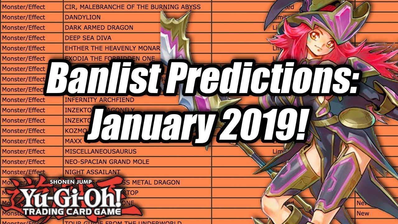 Yu-Gi-Oh! Banlist Predictions! January 2019!