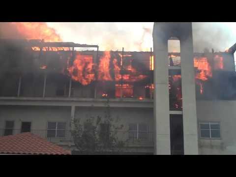 Condo fire in Galveston Maravilla Condos 95th and Seawall