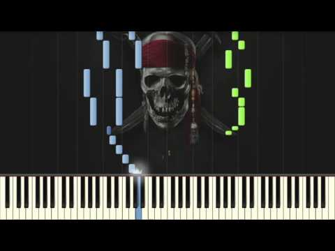 Jack Sparrow [EASY] - Pirates of the Caribbean - Piano tutorial (Synthesia)