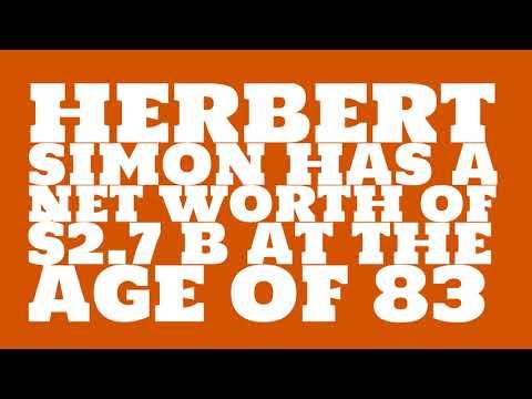 How rich is Herbert Simon?