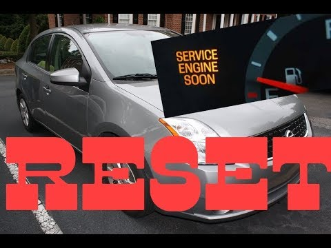How To Reset Service Engine Soon Light On A 2008 Nissan Sentra.