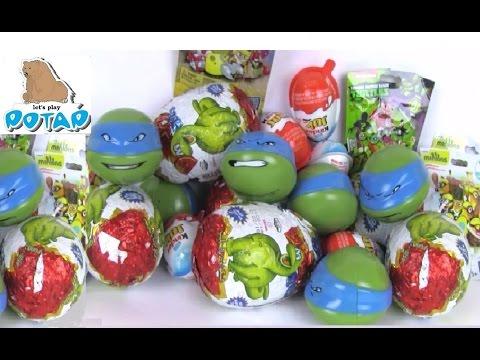 Kinder Surprise Eggs Toys Ninja Turtles Киндер Сюрприз Черепашки Ниндзя