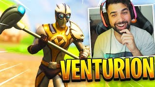 "NEW FORTNITE ""VENTURION"" Skin Gameplay.."