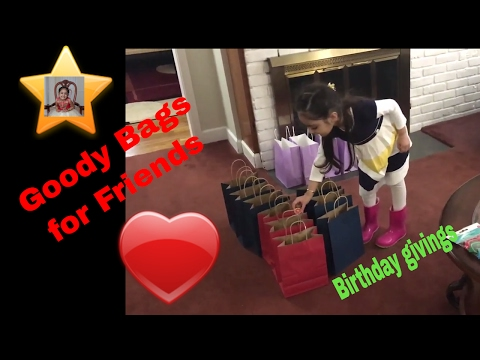 Kid Happy Birthday Goody Bags Preparation, Shopping fun and learn, and Having Princess tea party