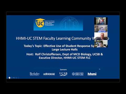UC STEM FLC Workshop: Effective Use of Student Response Systems in Large Lecture Halls