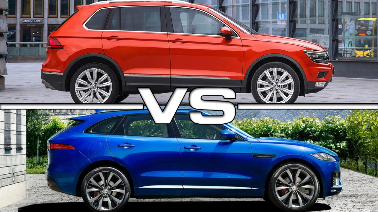 2017 vw tiguan vs 2016 jaguar f pace youtube. Black Bedroom Furniture Sets. Home Design Ideas