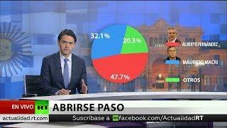 Fernández supera a Macri en 16 puntos en las primarias en Argentina