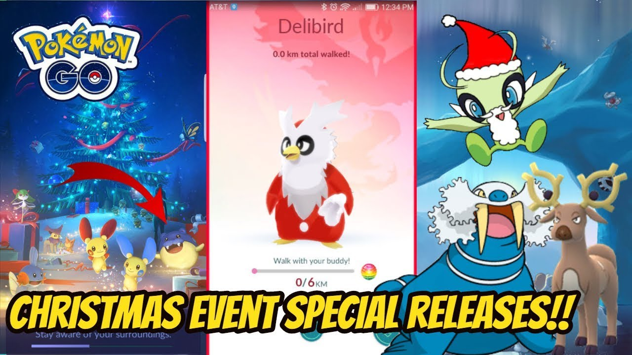 Pokemon Go Christmas Event.Pokemon Go Christmas Event Special Releases