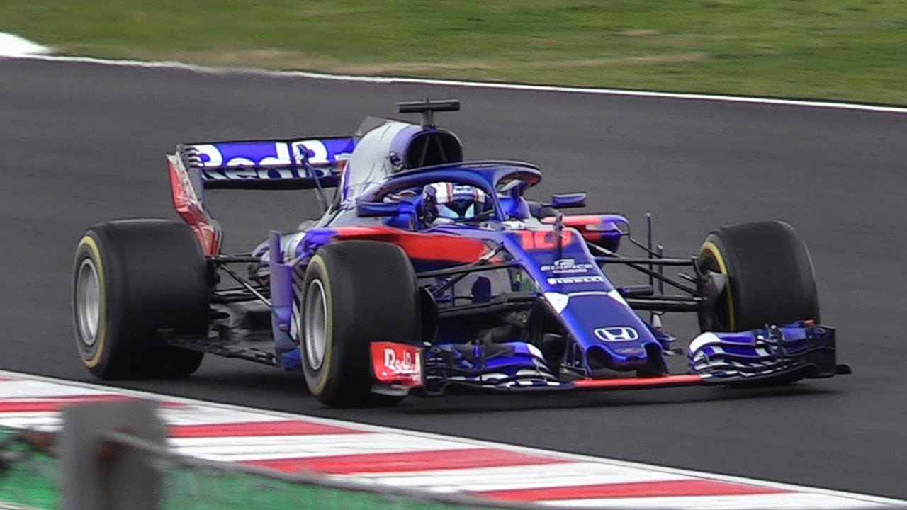 toro rosso str13 honda f1 2018 in action during the formula 1 2018 testing youtube. Black Bedroom Furniture Sets. Home Design Ideas