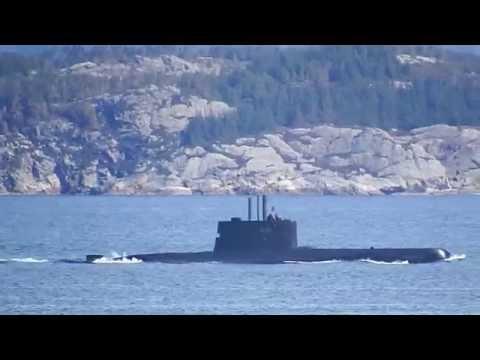 """KNM """"Utsira"""" - S301 - Norwegian Submarine - Hjeltefjorden - Outside Rongesundet - 2015"""