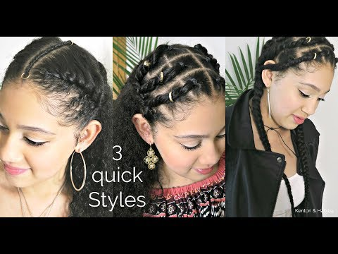Mariam's EDGY TEEN HAIRSTYLES 3 QUICK CHOICES !  Kenton & Habiba
