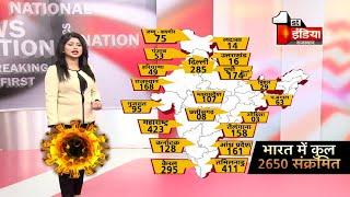 Covid-19: भारत मे 2650 हुए Corona पॉजिटिव, देखिए किस राज्य में कितने पॉजिटिव   4 April 2020