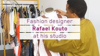 Fashion Designer Rafael Kouto at his studio (Winner Swiss Design Awards 2018)