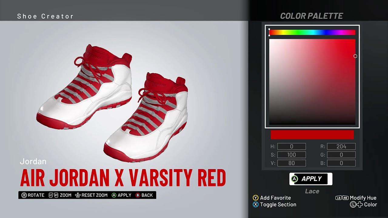 finest selection c1b34 8f507 NBA 2K19 Shoe Creator - Air Jordan 10