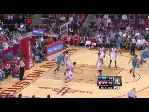 Aminus ALLEY OOP   New Orleans Hornets Vs Houston Rockets   01   02   2012   NBA Season 2012   13