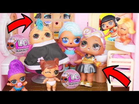 LOL Surprise Lil Sister Surprise Pets Series 4 Go to Hair Salon with Big Brother Unicorn