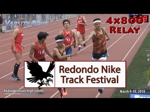 2018 TF - Redondo Nike Invite - 4x800 Relay (Var Boys)