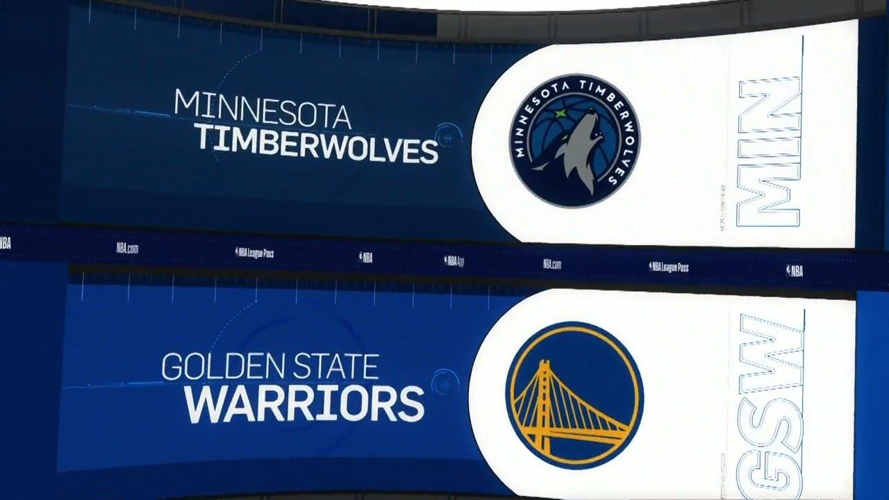 NBA  PS  Minnesota Timberwolves vs Golden State Warriors   Oct 10,  2019