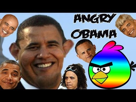 Angry Obama(Angry birds meet Barack Obama)parody