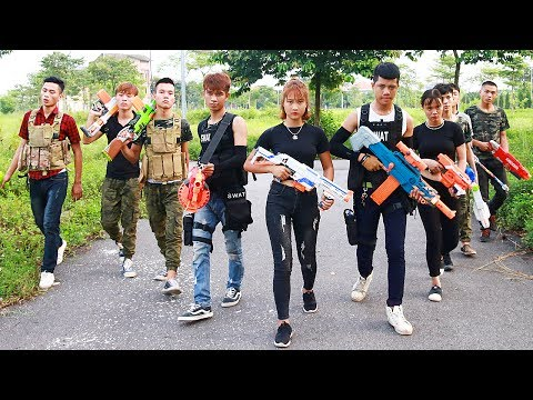 Thumbnail: Superhero action Spiderman S.W.A.T Sniper Nerf guns Kidnapper Lance Knight Rescue Brother Nerf war