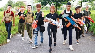 Superhero action Spiderman S.W.A.T Sniper Nerf guns Kidnapper Lance Knight Rescue Brother Nerf war thumbnail