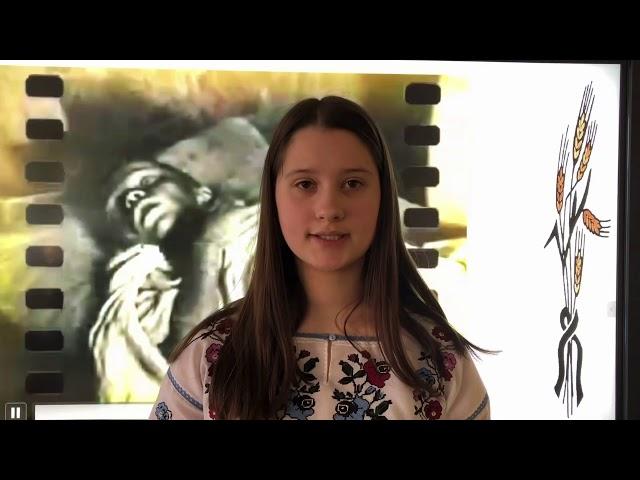 Виховний захід до Дня пам'яті жертв Голодомору (підготували учні 8-Б класу)