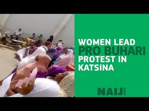 Women lead pro-Buhari protest in Katsina