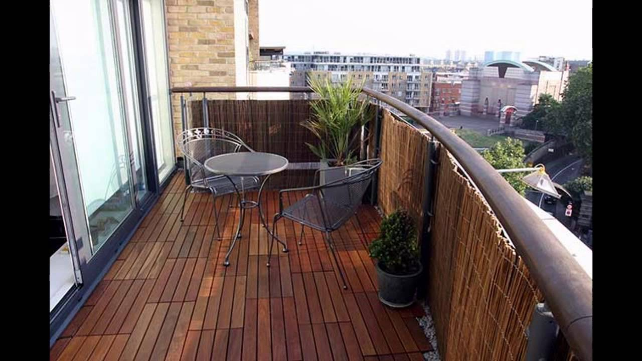 Garden ideas balcony decking ideas youtube for Balcony flooring options