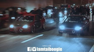 2 K20 swapped Honda Civic Coupes GO AT IT FOR $3000.00 POT!