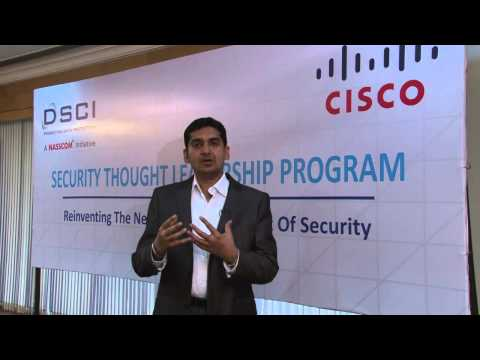 Mahesh Gupta Cisco speaking on DSCI-Cisco Security Thought Leadership Program