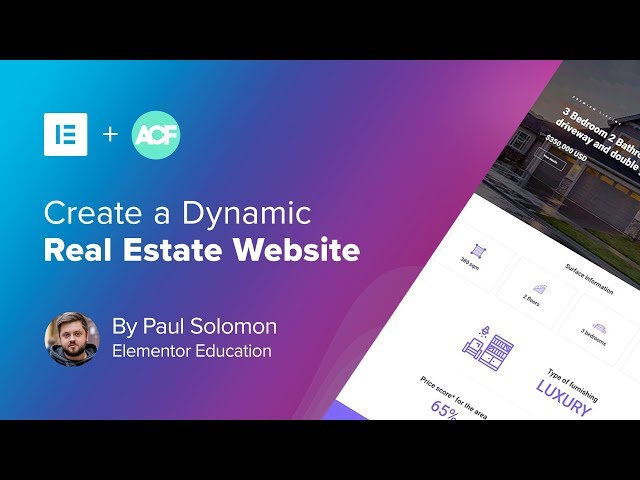 Create a Real Estate WordPress Website Using ACF & Elementor