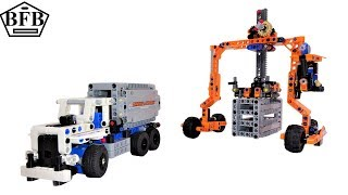 Lego Technic 42062 | Container Transport | Container Yard | Lego Speed Build Review | Modell B