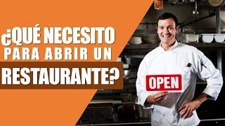 ¿Que Necesito Para Abrir Un Restaurante?  | Cursos de Restaurantes