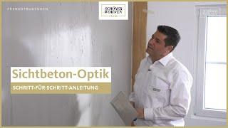 SCHÖNER WOHNEN Trendstruktur Sichtbeton-Optik │ Industrieller Charme
